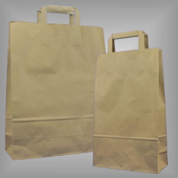Recyclingpapiertragetaschen braun