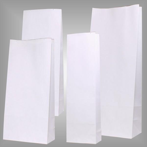 Papierblockbodenbeutel Premium weiß