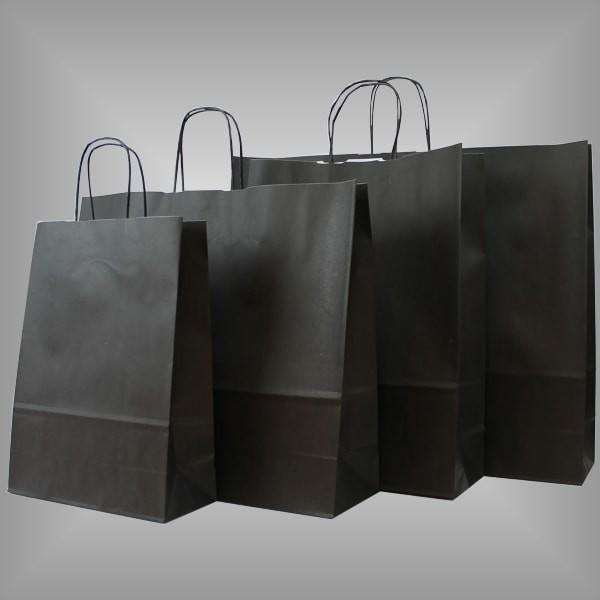 Papiertragetaschen schwarz