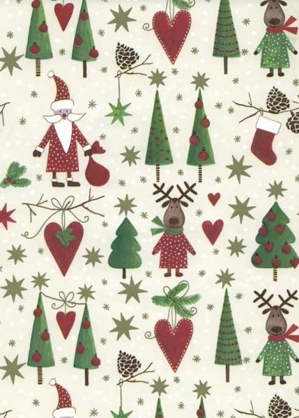 Weihnachtspapier Dessin 49644