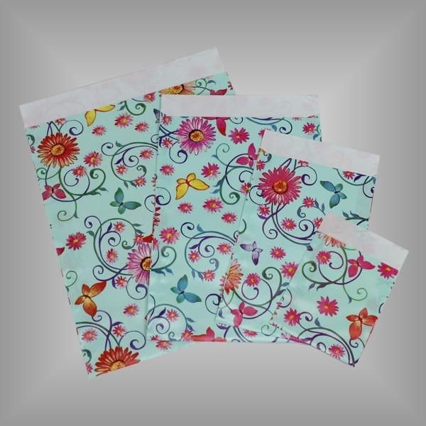 Papierflachbeutel Blumenranken