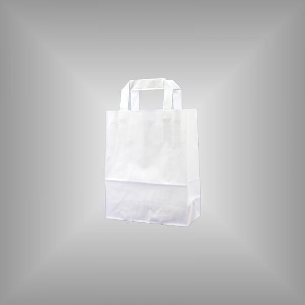 Papiertüten weiß 18 x 8 x 22 cm
