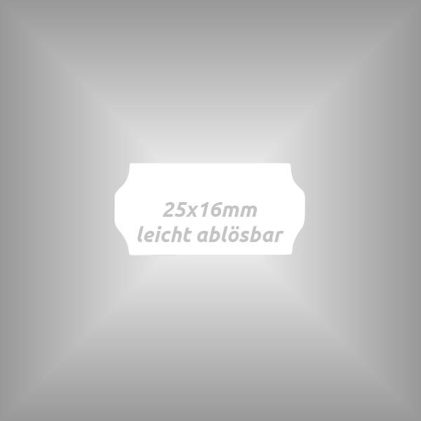 10 Rollen - Etiketten 25 x 16 mm