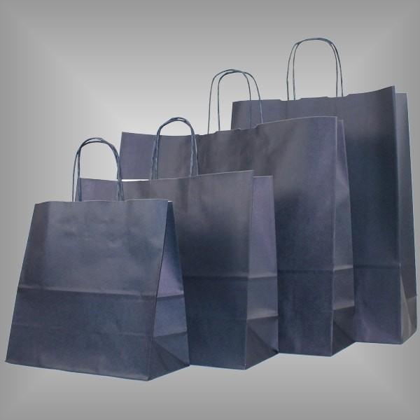 Papiertragetaschen nachtblau