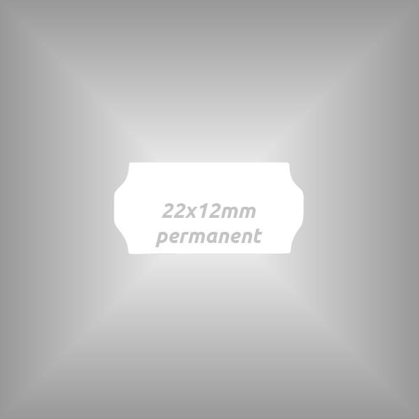 10 Rollen - Etiketten 22 x 12 mm