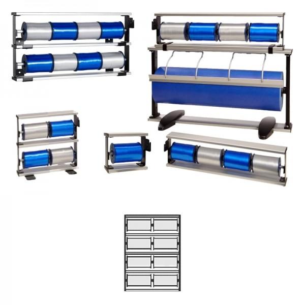 Kräuselbandständer 4x2-fach Alu