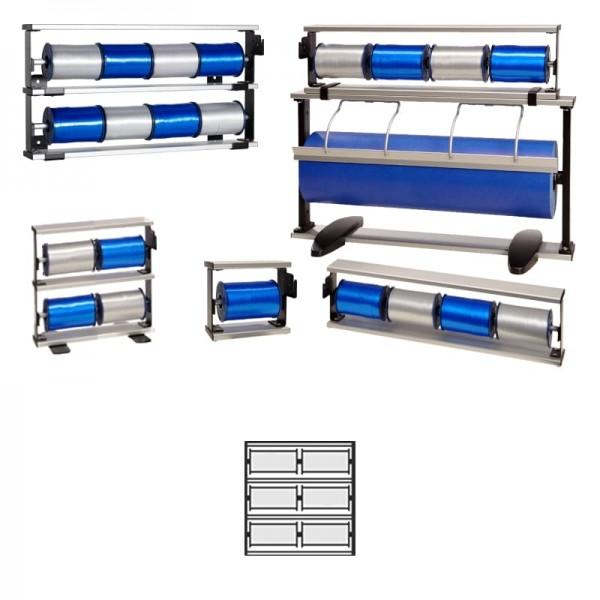 Kräuselbandständer 3x2-fach Alu