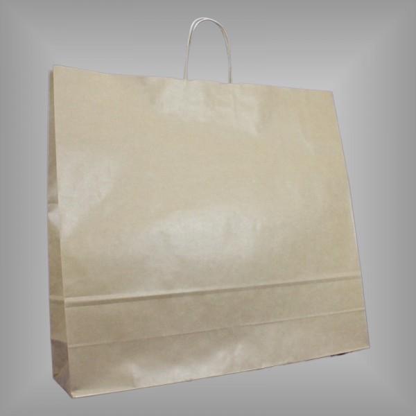 54 x 14 x 50 cm Papiertragetaschen braun 125 Stück