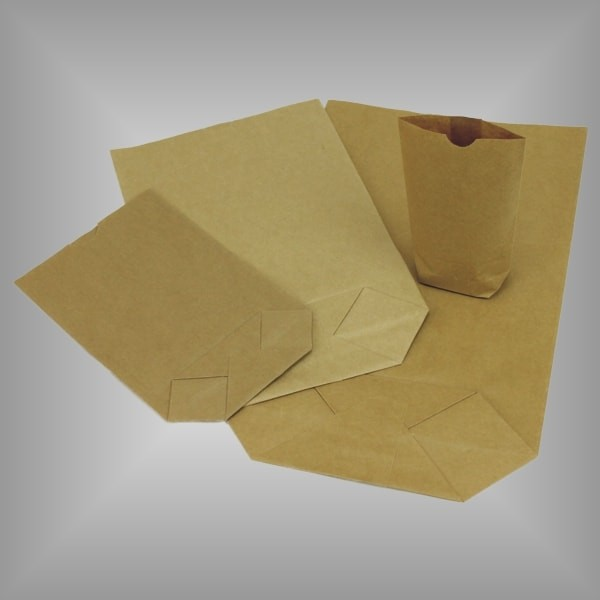 Kreuzbodenbeutel aus Papier braun