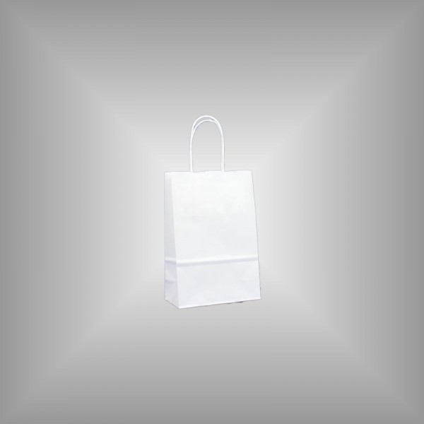 14 x 7 x 21 cm Papiertragetaschen weiß 300 Stück