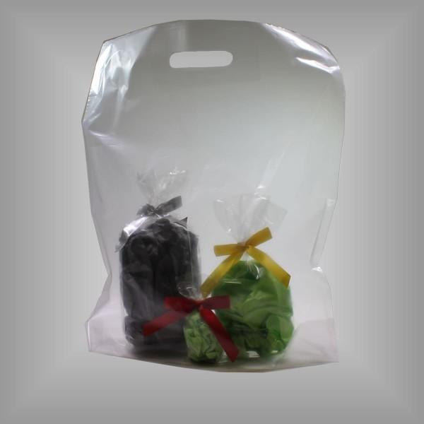 Plastiktragetaschen transparent