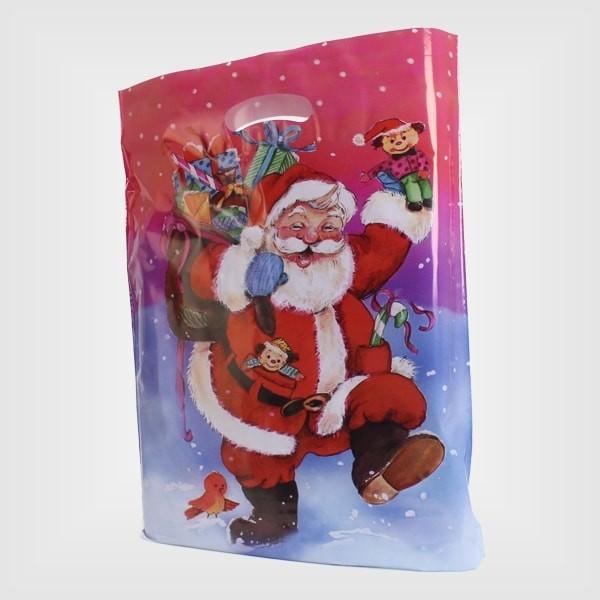 500 Plastiktüten Weihnachtsmann 38 x 45 + 5 cm