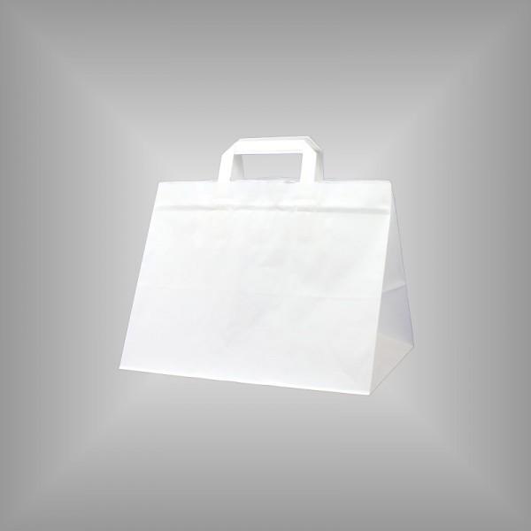 32 x 22 x 27 cm Papiertüten weiß 250 Sück