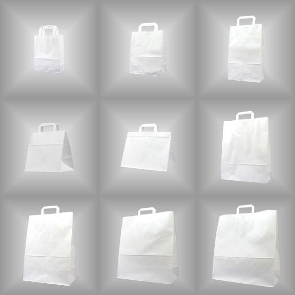 18 x 8 x 22 cm Papiertüten weiß 250 Stück