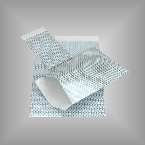 Papierflachbeutel Hellblau Sterne
