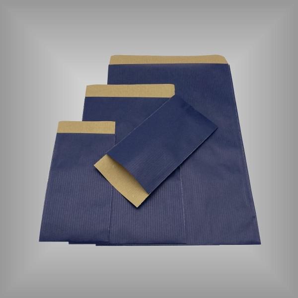 Papierflachbeutel Blau